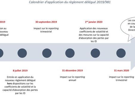 Publication du nouveau règlement délégué 2019/981 au Journal officiel de l'union européenne
