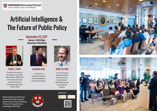 """Host """"Artificial Intelligence & The Future of Public Policy Seminar"""" in Harvard Kennedy School."""