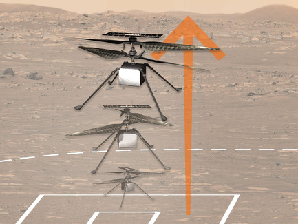 Powered flight on another planet!