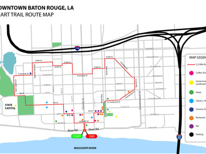 NLD creates Heart Trail in downtown Baton Rouge!