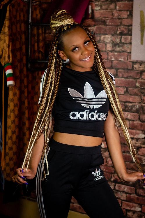 Adidas 2-Piece Pants Set (Black)