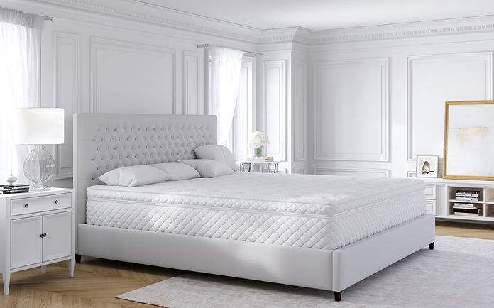 Alaskan king bed with bed frame