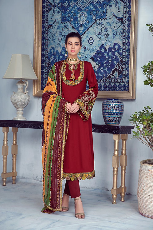 Mohagni | Zarqa Collection 2021 | 8A-3Pc Stitched