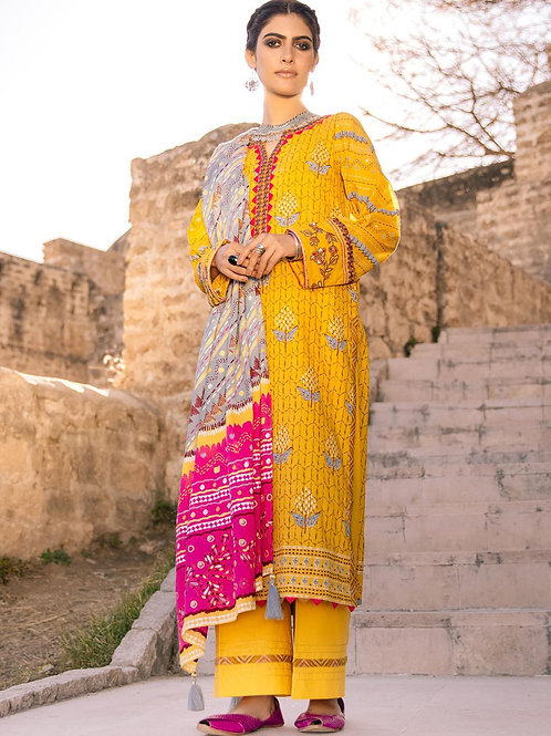 Lakhany Lsm | Embroidered Lawn'21 | 11-3Pc Stitched