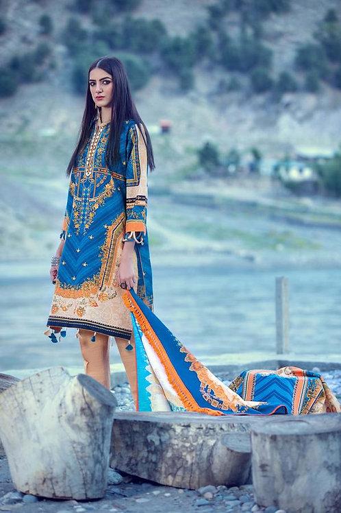 Kataan | Khaddar'20 | Teal Gems 3Pc