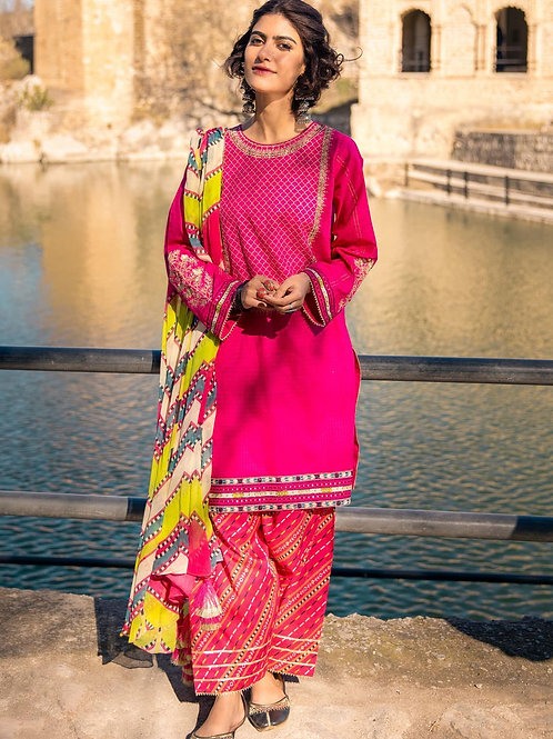 Lakhany Lsm   Embroidered Lawn'21   05 -3Pc Stitched