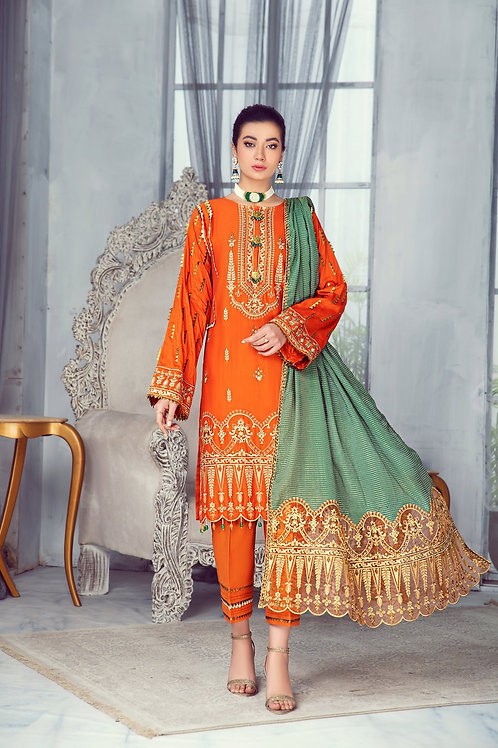 Mohagni   Zarqa Collection 2021   -3Pc Stitched