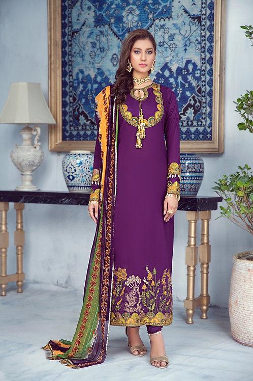 Mohagni | Zarqa Collection 2021 | 8B-3Pc Stitched