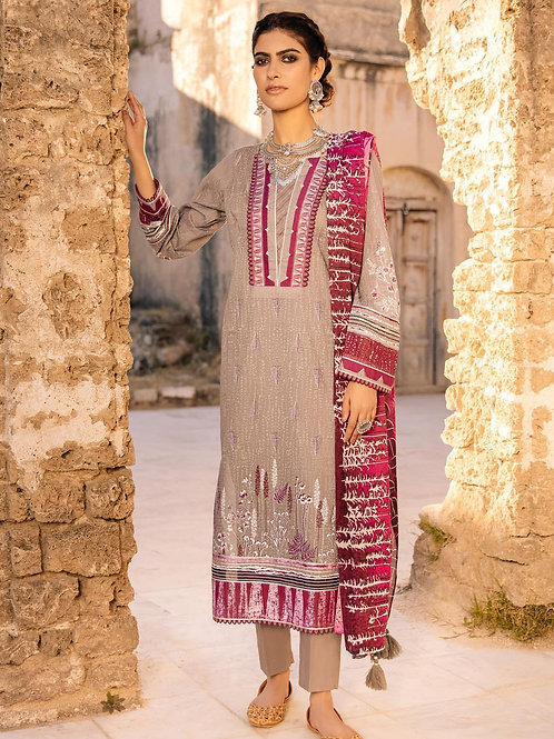 Lakhany Lsm | Embroidered Lawn'21 | 14 -3Pc Stitched
