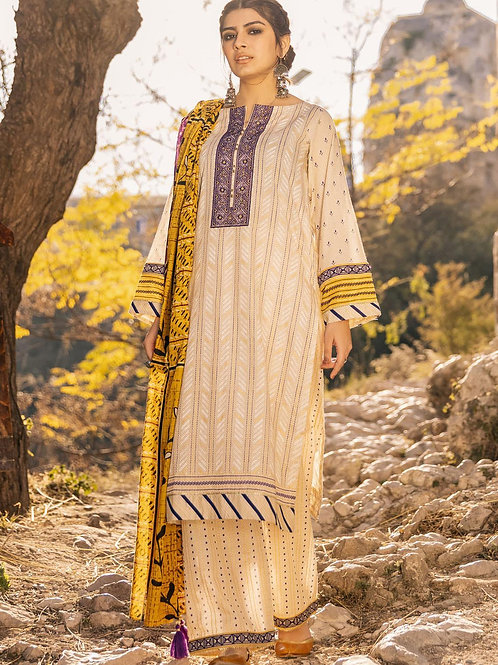Lakhany Lsm | Embroidered Lawn'21 | 12-3Pc Stitched