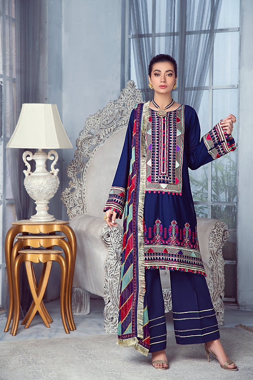 Mohagni | Zarqa Collection 2021 | 2A-3Pc Stitched