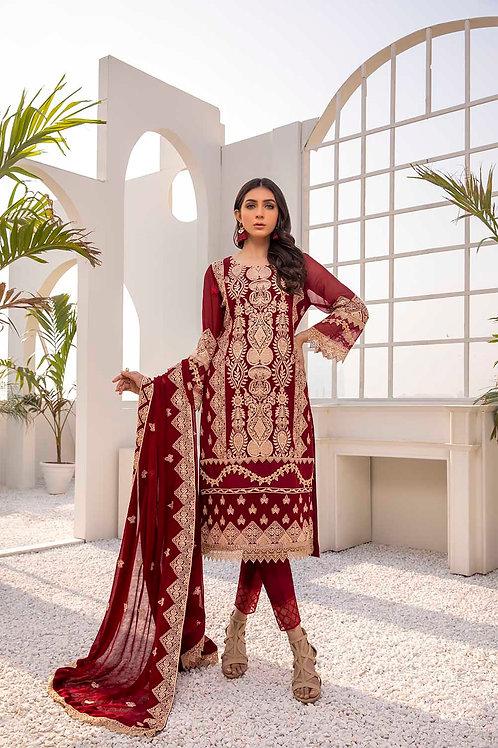 Azure  Festive Collection 2021   Saffron-3Pc Stitched
