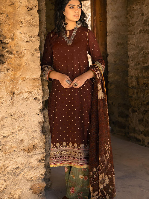 Lakhany Lsm | Embroidered Lawn'21 | 04-3Pc Stitched