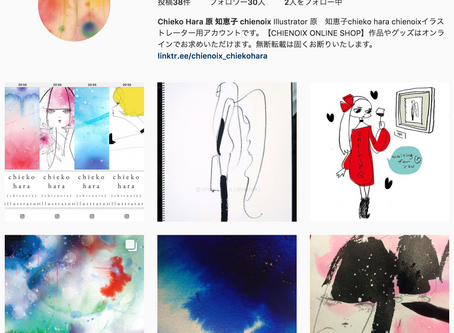 Instagramイラストレーション専用アカウントはじめました
