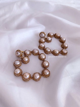 Serendipity Rose Pearl Gold Hearts