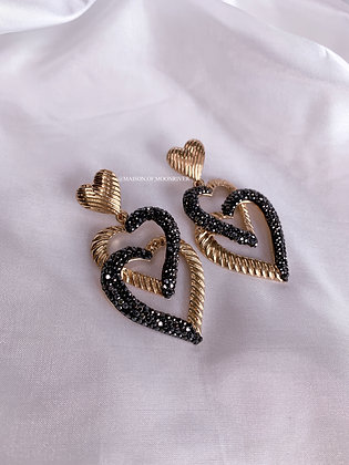 Delara Heart Earrings - Gold