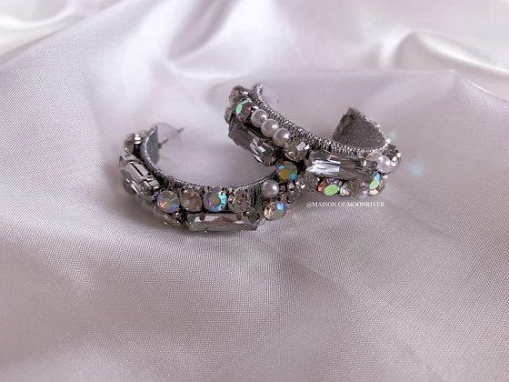Charmful Silver Hoop Earrings