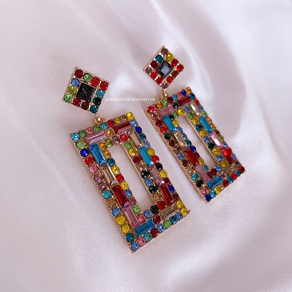 A Cathedral City Rainbow Earrings