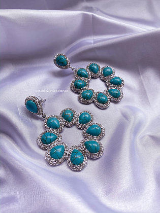 Evelyn Earrings - Baroque Turquoise Pearls