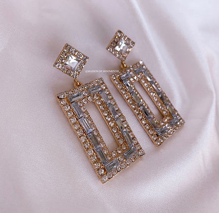 A Cathedral City Silver Earrings