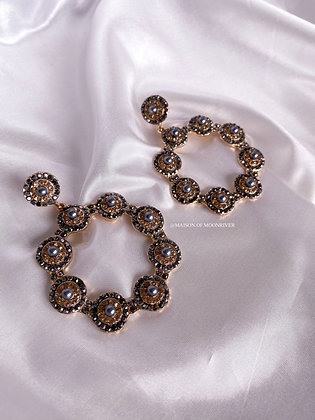 Dorothy Circular Earrings - Silver and Gold