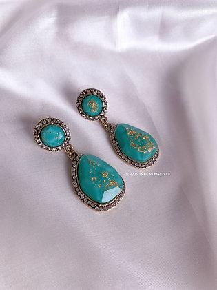 Azure Earrings - Turquoise Green