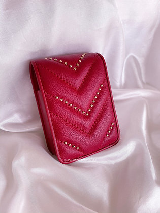 Bisou Lipstick Pouch - Red