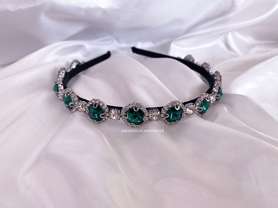 Dolly Daydream Headband - Emerald Green