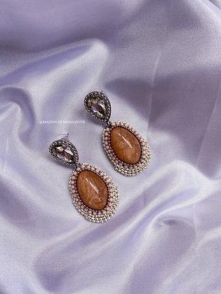 Lolita Beaded Earrings - Amber