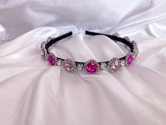 Dolly Daydream Headband - Ruby Pink