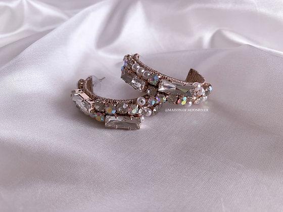 Charmful Rose Gold Hoop Earrings