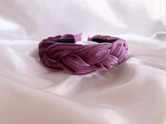 Veloures Headband Lilac Pink