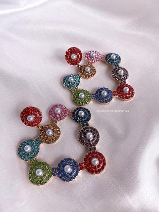 Dorothy Heart Earrings - Rainbow