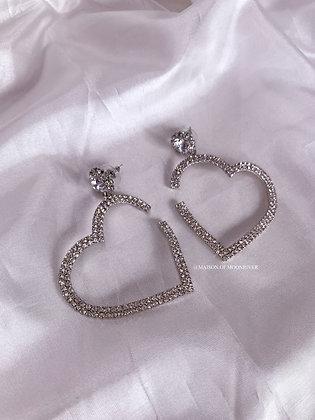 Love Me Forever Heart Earrings