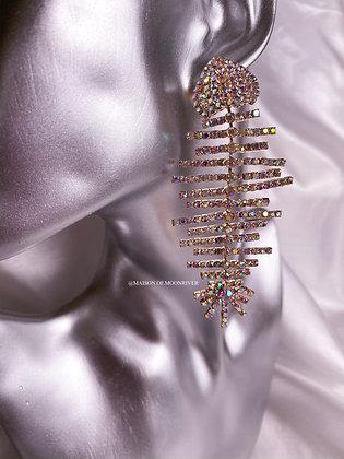 Flounder Earrings - Gold