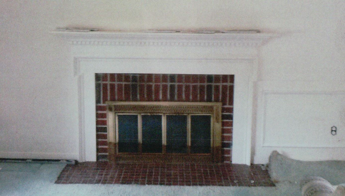Before New Stonework On Fireplace