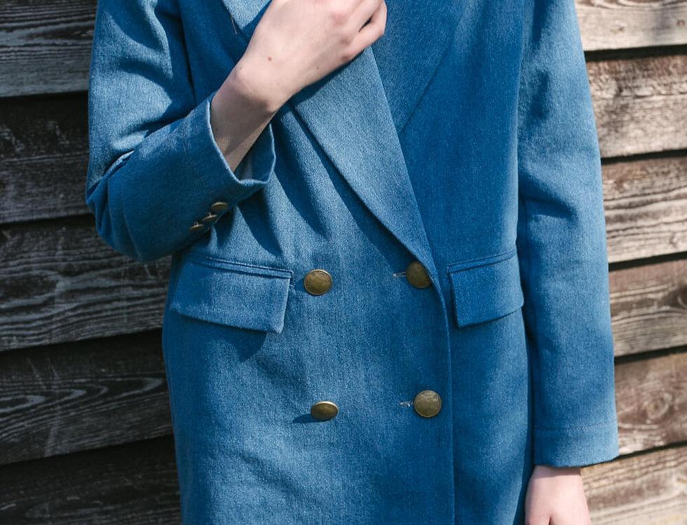 Платье-пиджак джисовое