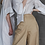 Thumbnail: Асимметричная рубашка-блуза из тонкого льна с добавлением органзы