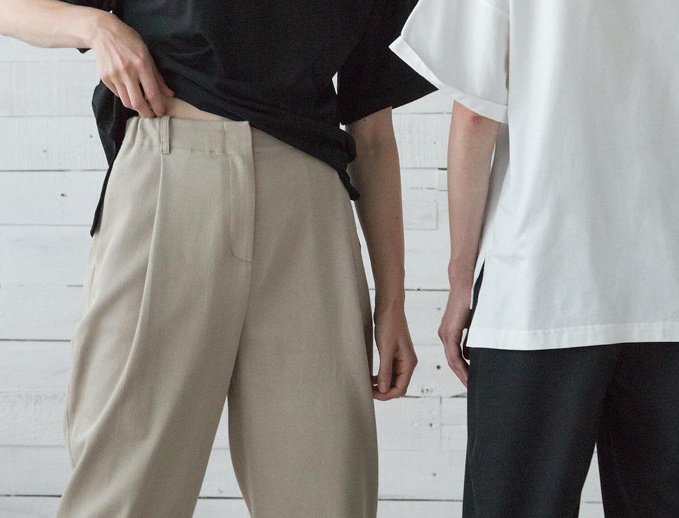 Брюки-слоуч, бежевый джинс