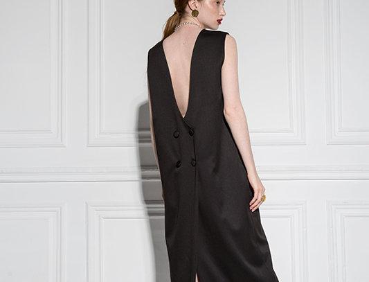 Платье-фрак без рукава