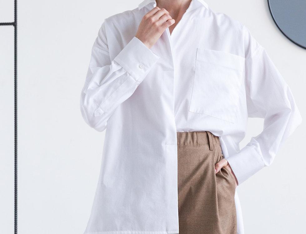 Рубашка оверсайз в мужском стиле