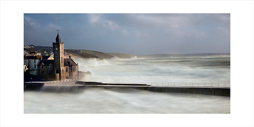 Soft Waves Over Clock Tower