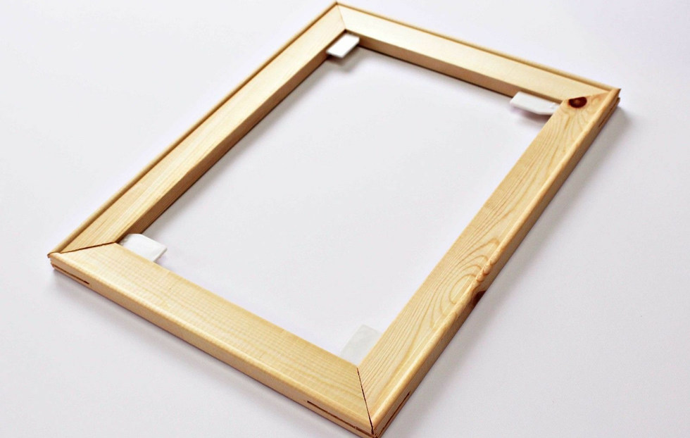 We only use thick 38mm gallery frames for the best quality