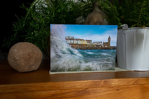 Wave & The Clock Tower - Greetings Card