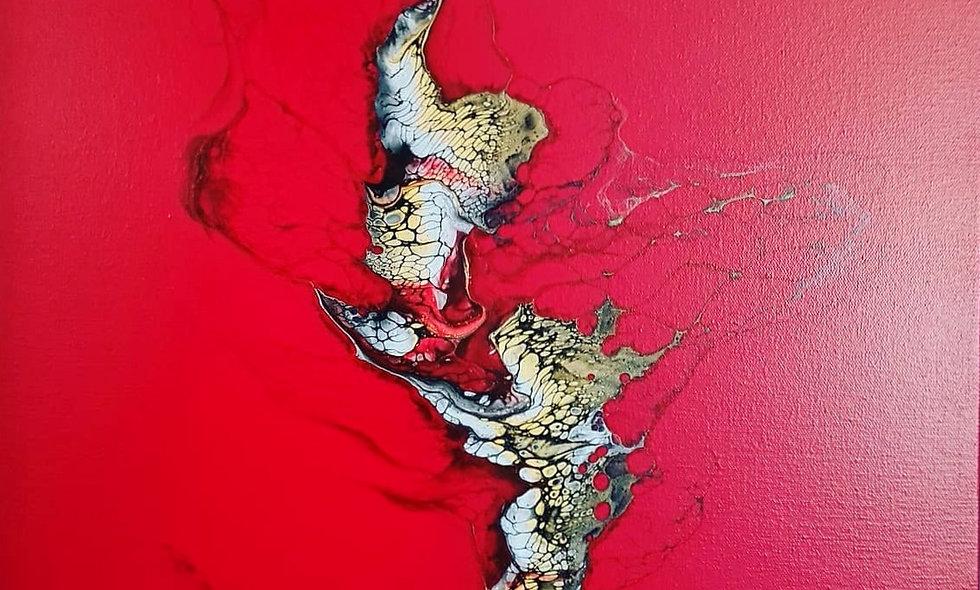 Peinture Acrylique Pouring Marseille  REF-016
