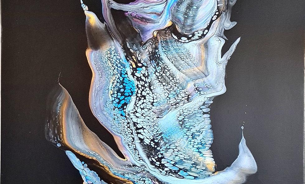 Peinture Acrylique Pouring Marseille  REF-006