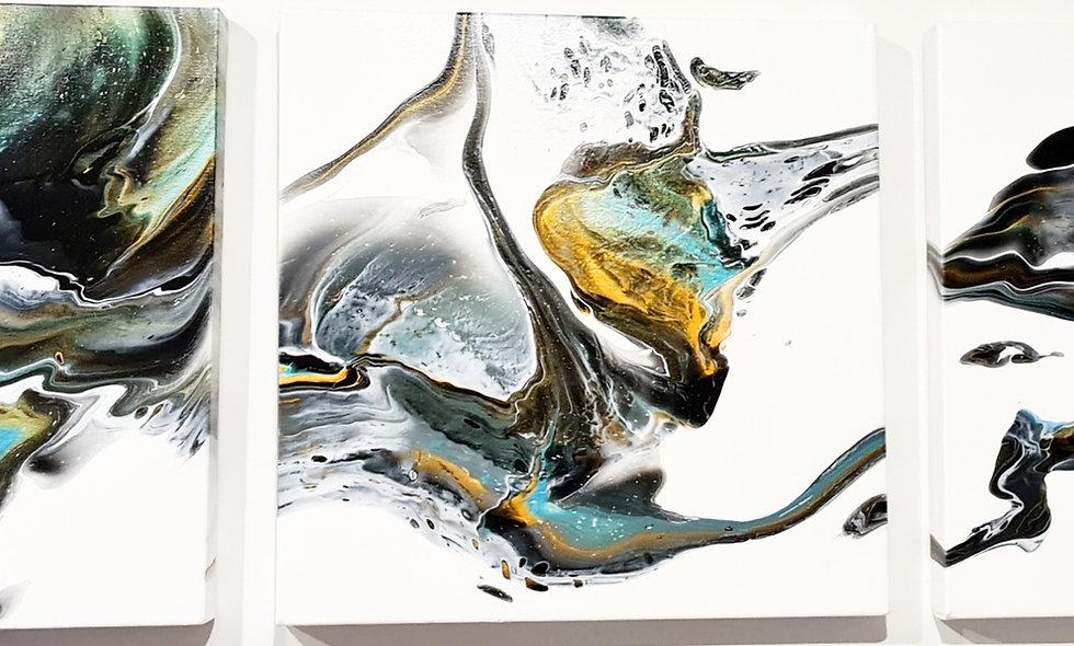 Peinture Acrylique Pouring Marseille  REF-010