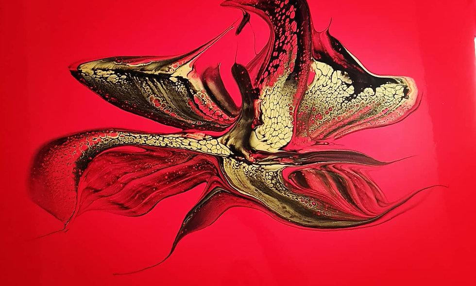 Peinture Acrylique Pouring Marseille  REF-024