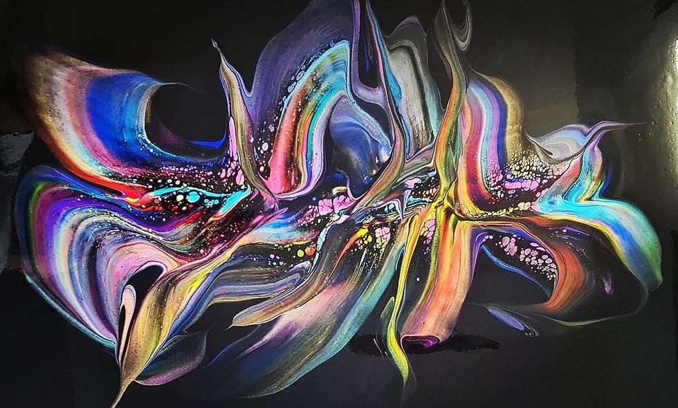 Peinture Acrylique Pouring Marseille  REF-022