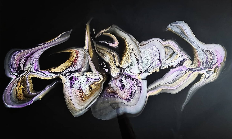 Peinture Acrylique Pouring Marseille  REF-020